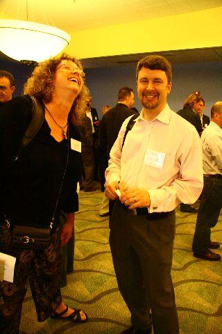 Janet Raedupree and David Smith with Enterprise Ireland
