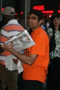 Giving away the Evening Standard in Leicester Square in London (6)