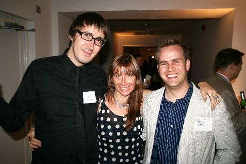 Joe Neall Symbian Foundation Renee Blodgett and Roelof Kotze at TechCrunch Awards party in London