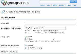 Groupspaces screenshots
