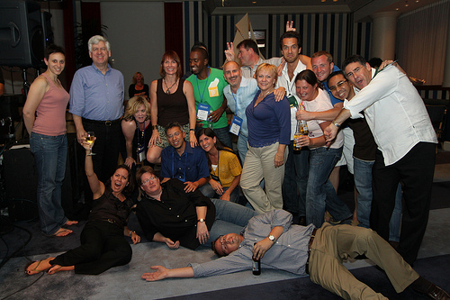 Demo bash group shot taken by demo conference