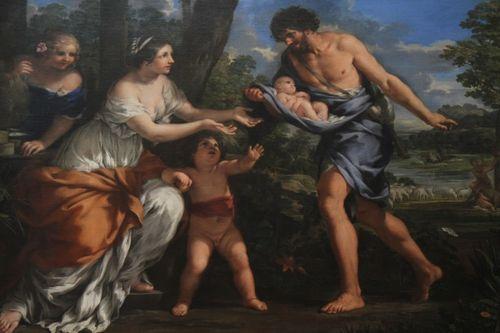 Paintings at LeLouvre - Pietro Berrettini dit Pierre de Cortone - Romulus et Remus recueillis par Faustulus - taken vers 1643 (20)