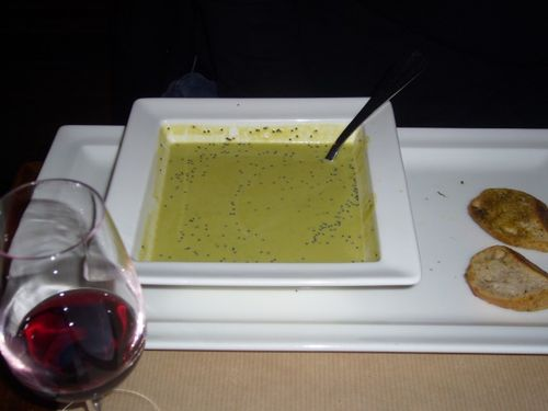 Soup at restaurant in the Marais (1)