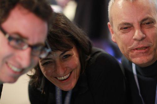 David Spark Eliane Fiolet and Richard Binhammer during Traveling Geeks to Paris Tour at LeWeb (2)