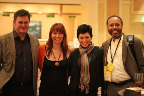 Chris-Tolles Renee-Blodgett Ponzi and Steve-Miller at CES 2010