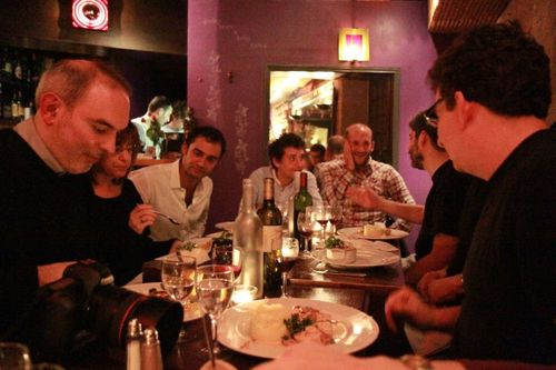 Traveling-Geeks kickoff dinner in Paris Les Bougresses in the Marais (17)