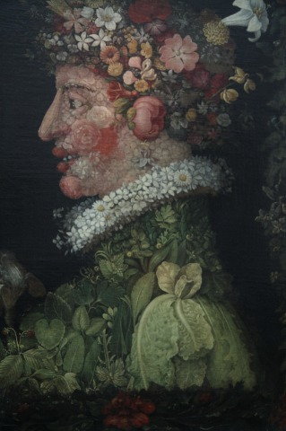 Paintings at LeLouvre - Giuseppe Arcimboldo - Lautomne and Le Printemps taken around 1573 (18)