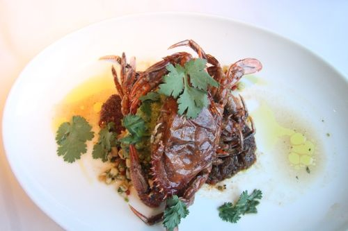 Crab and dessert at waterbar (6)
