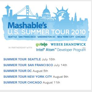 Mashable summer tour