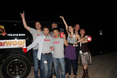 The CarWoo team at CarWoo launch party blogworld - bwe10 (5)