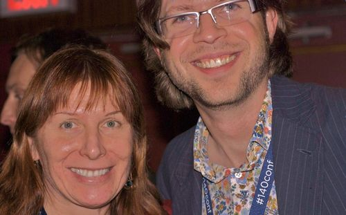 Renee-Blodgett and Josh Williams Gowalla at 140Conference #140conf in nyc (3)