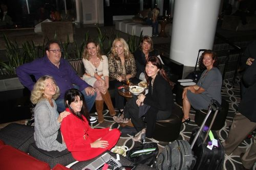 Girl get together in W Hotel lobby at 140conf LA