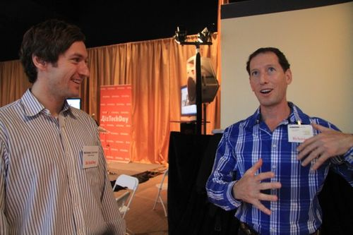 Nicholas gammell of gain fitness and david-blumberg at biztechday (9)