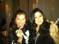 Renee and jeni at zapos party