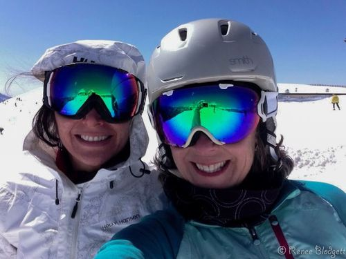 Renee and therese skiing sun valley resort