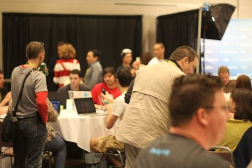 In the blogger lounge at SXSW